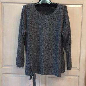 T Tahari textured need front tie ladies sweater 2X